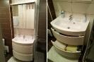 Umivalnik in omarica z ogledalom