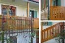 Balkon in stopnišče